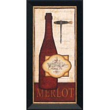 Merlot Framed Graphic Art
