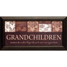 Grandchildren Framed Textual Art