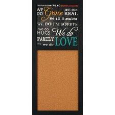 """Grace and Love 2' 8"""" x 1' 2"""" Bulletin Board"""
