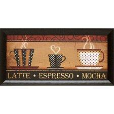 Latte Espresso Framed Vintage Advertisement