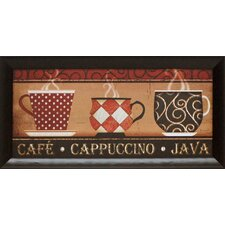 Café Cappuccino Framed Vintage Advertisement