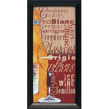 White Wine Framed Graphic Art