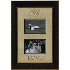 <strong>Artistic Reflections</strong> Faith Hope Love Photo Frame
