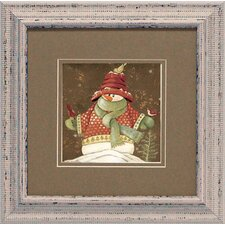 Sweater Snowman 2 Framed Art