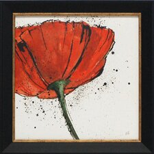 Not a California Poppy I Framed Painting Print