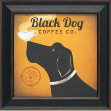 Black Dog Coffee Co. Framed Vintage Advertisement