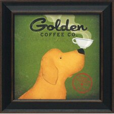 Golden Coffee Co. Framed Vintage Advertisement