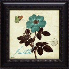 Touch of Blue II Faith Framed Graphic Art