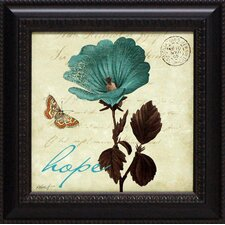 Touch of Blue III Hope Framed Graphic Art
