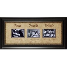 <strong>Artistic Reflections</strong> Faith Family Friends Framed Art