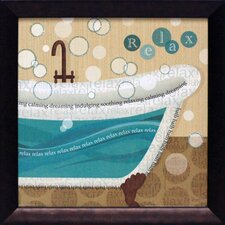 Dancing Bubbles II Framed Graphic Art
