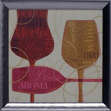 Colorful Wine I Framed Art