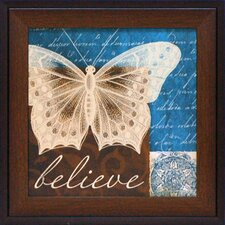 Believe in Butterflies Framed Art