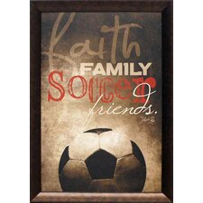 Faith Family Soccer Framed Graphic Art