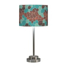 "Organic Modern Geode Stem 24"" Table Lamp with Drum Shade"