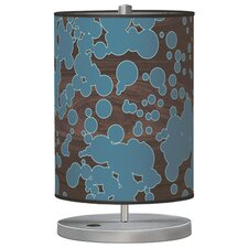 "Organic Modern Fizzy Cylinder 21"" H Table Lamp with Drum Shade"