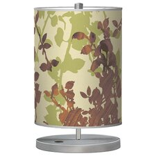 "Organic Modern Leaf Cylinder 21"" H Table Lamp with Drum Shade"