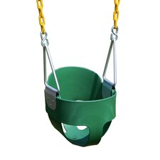 <strong>Eastern Jungle Gym</strong> Heavy Duty High Back Full Bucket Swing with Coated Chain