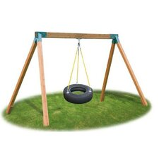 Classic Cedar Tire Swing Set