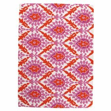 Back Bay Pink and Orange Hook Rug