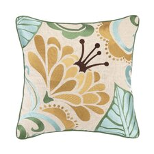 Talavera V Linen Embroidered Pillow