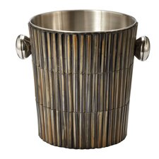 Burnt Horn Dowel Ice Bucket