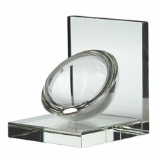 <strong>Lazy Susan USA</strong> Crystal Sphere Book Ends (Set of 2)