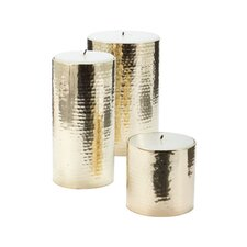 Hammered Pillar Candle