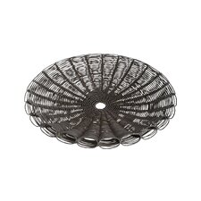 Weathered Cornucopia Round Serving Tray