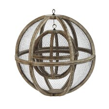 Wire Atlas Sphere Sculpture (Set of 2)