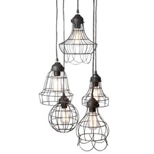 <strong>Lazy Susan USA</strong> Wire 5 Light Pendant