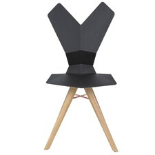 Y Side Chair with Wood Base