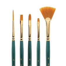 Regency Gold Bright Decorative Painting Brush (Set of 6)