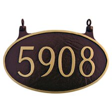 Two Sided Oval Hanging Address Plaque