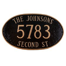 Montgomery Large Address Sign