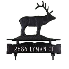 One Line Lawn Sign with Elk