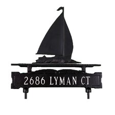 One Line Lawn Sign with Sailboat