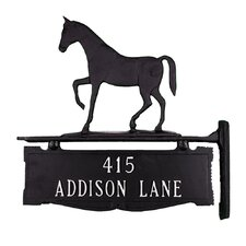 Two Line Post Sign with Gaited Horse