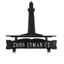 One Line Mailbox Sign with Cape Cod Lighthouse