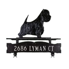 One Line Mailbox Sign with West Highland White Terrier