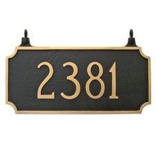 Princeton Two Sided Hanging Address Plaque