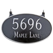 Two Sided Large Oval Address Plaque
