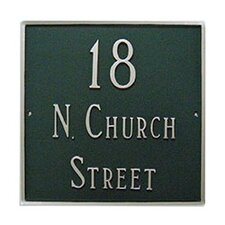 Classic Standard Square Address Plaque