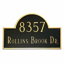 Classic Arch Standard Address Plaque