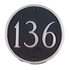 Petite Circle Address Plaque