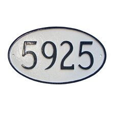Large Oval Address Plaque