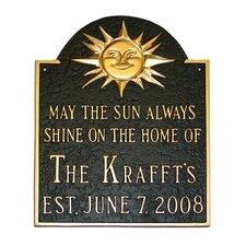 Established Sunshine Address Plaque