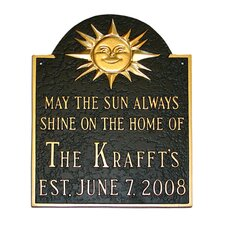 Established Sunshine Address Plaque