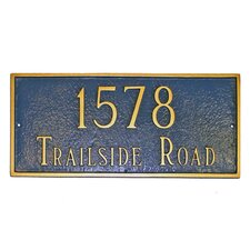 Classic Large Rectangle Address Plaque