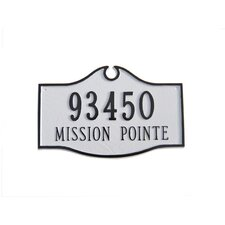 Colonial Standard Address Plaque